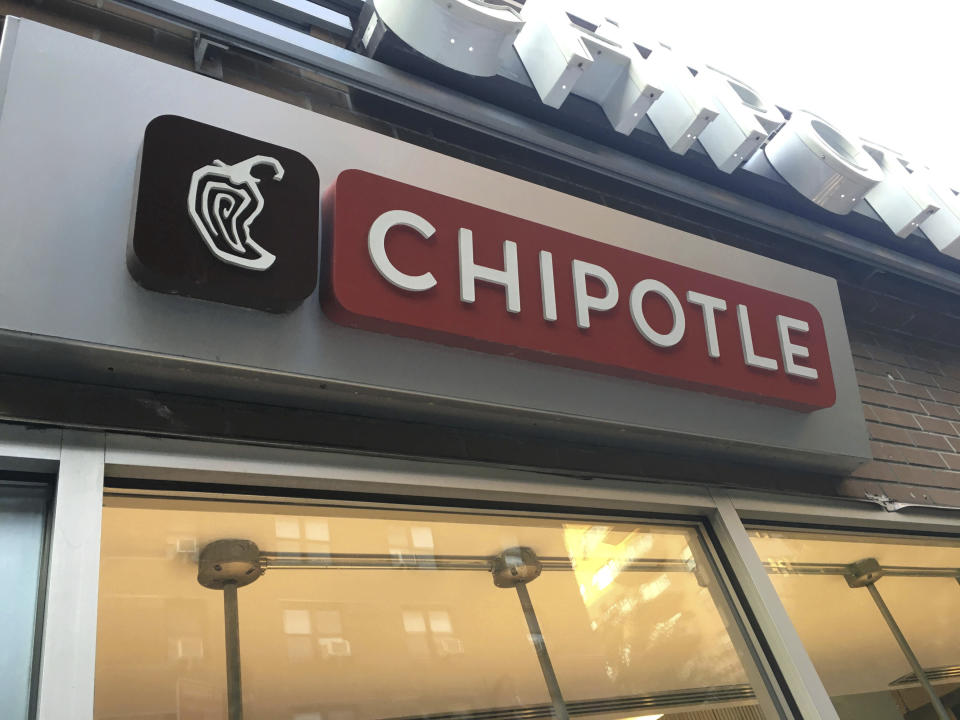 "DECEMBER 10th 2020: Chipotle Mexican Grill names a menu item after Miley Cyrus. They now offer a burrito dubbed ""Guac Is Extra But So Is Miley"". - File Photo by: zz/STRF/STAR MAX/IPx 2020 8/17/20 A Chipotle Mexican Grill Restaurant on August 17, 2020 in Downtown Manhattan, New York City. (NYC)"