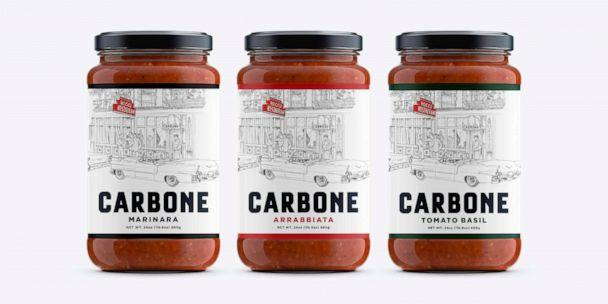 PHOTO: Three new 24-ounce jars of Carbone Fine Foods pasta sauces.  (Carbone Fine Foods )
