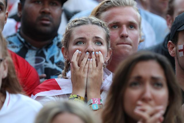 A nervous England fan.