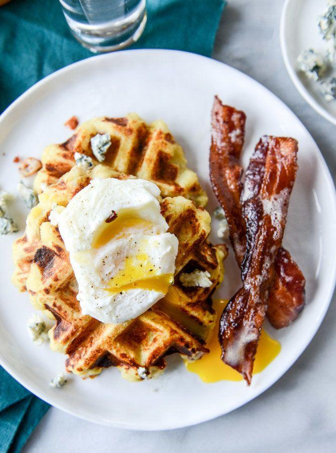 "<strong>Get the <a href=""http://www.howsweeteats.com/2015/11/bacon-blue-cheese-mashed-potato-waffles/"" target=""_blank"">Bacon Blue Cheese Mashed Potato Waffles recipe</a>&nbsp;from How Sweet It Is</strong>"