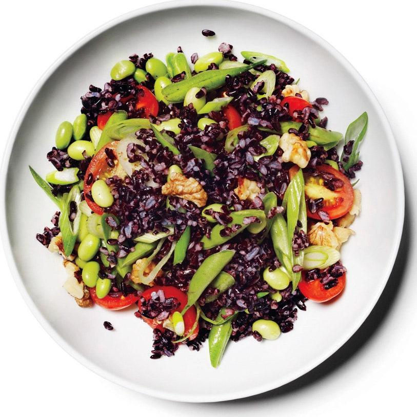 """This is another salad that'll just get better the longer it sits. The pleasantly earthy flavor of black rice pairs well with the bright acidity of this vinaigrette (but if you can't find black rice, wild rice works just as well). <a href=""""https://www.epicurious.com/recipes/food/views/black-rice-salad-with-lemon-vinaigrette-51160880?mbid=synd_yahoo_rss"""" rel=""""nofollow noopener"""" target=""""_blank"""" data-ylk=""""slk:See recipe."""" class=""""link rapid-noclick-resp"""">See recipe.</a>"""