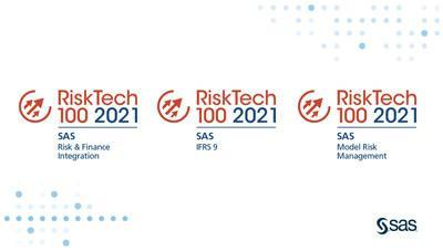 Named one of the top risk and compliance technology providers by Chartis for 15 consecutive years, analytics leader SAS ranked fifth overall in the global Chartis RiskTech100® 2021 report and won three industry solution categories: Risk & Finance Integration, Model Risk Management and International Financial Reporting Standard 9 (IFRS 9).