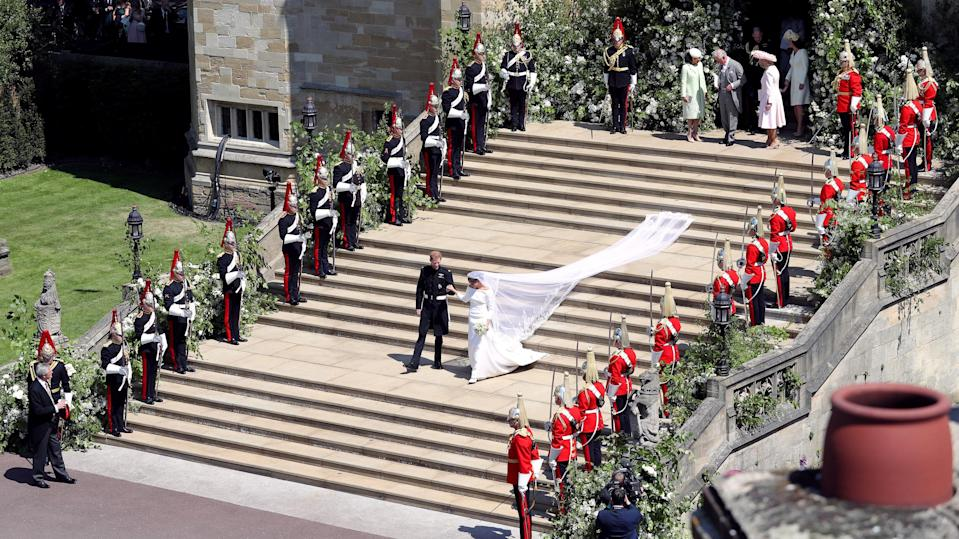 The security at Prince Harry and Meghan Markle's wedding cost the public an estimated £30 million. [Photo: Getty]
