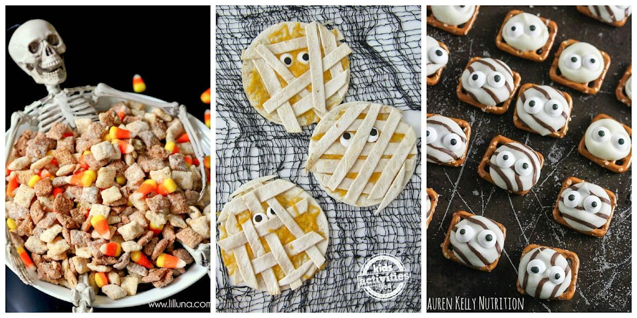 <p>These impressive Halloween snack recipes will have your party guests hooked from the first bite.</p>