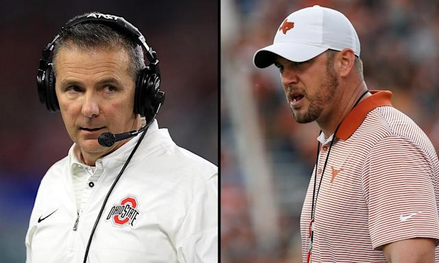 Do Ohio State's Urban Meyer and Texas' Tom Herman have a budding rivalry? (Getty)