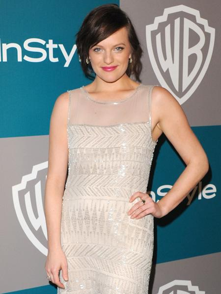 Elisabeth Moss before she chopped off her hair. (Photo by Jon Kopaloff/FilmMagic)