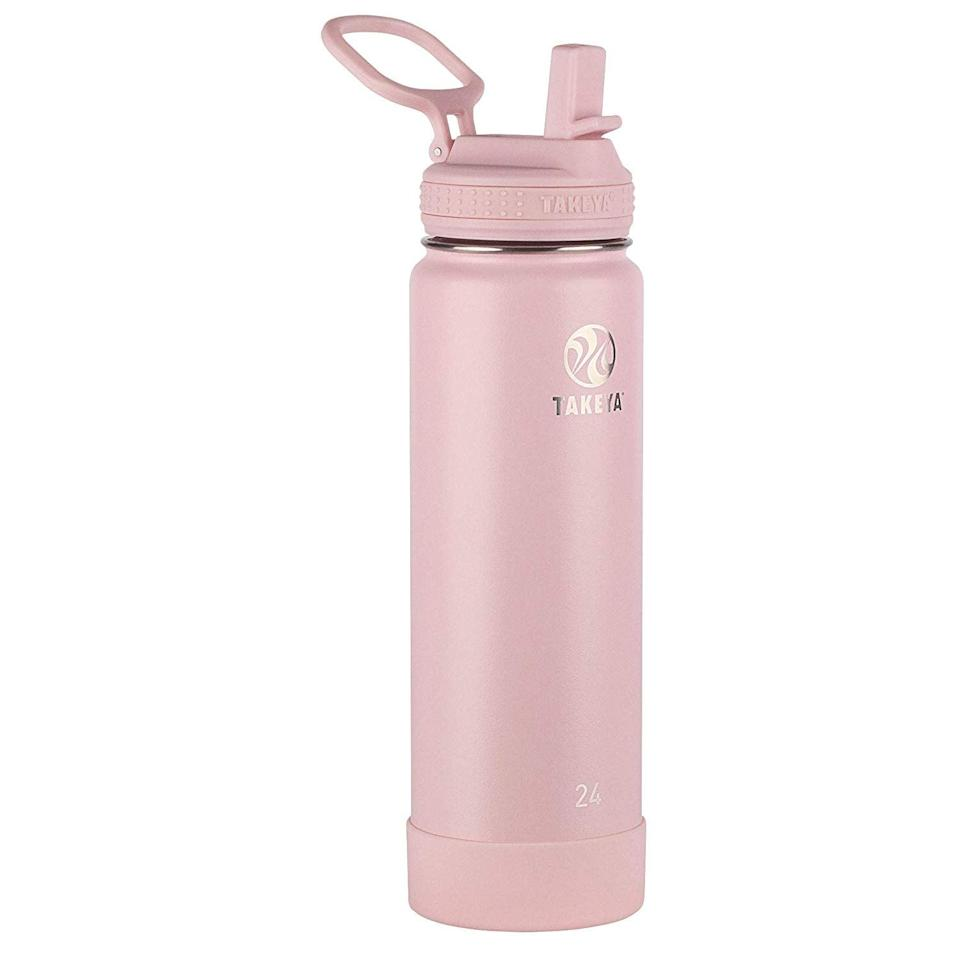 "<p>""After investing in so many products, I realized I also needed to ditch plastic and get this <span>Takeya Actives Insulated Stainless Steel Bottle</span> ($23, originally $33). It's much easier having by my side than a glass of water, which I have to admit I've knocked over from time to time."" - KJ</p>"