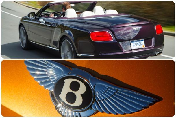Bentley Gt Speed Convertible Top Down On The Mountain Top