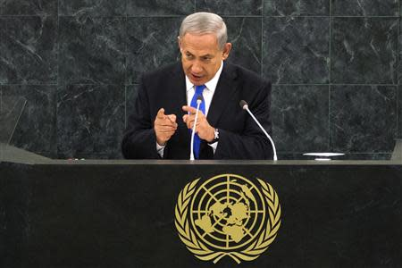Israel's PM Netanyahu addresses the 68th session of the UN General Assembly in New York