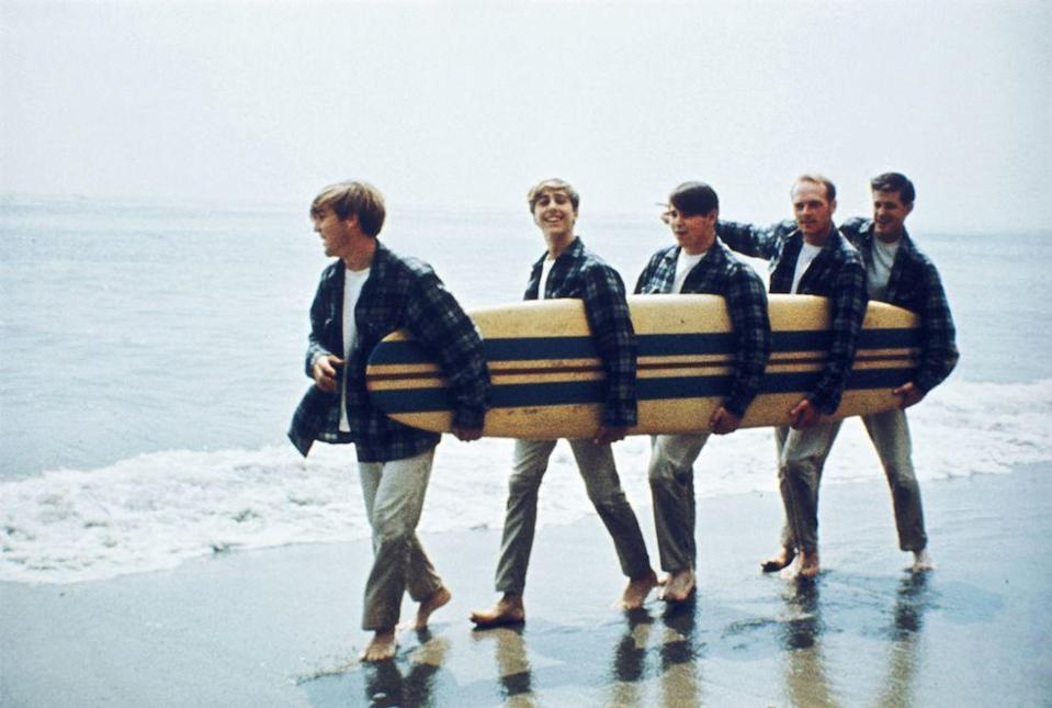 <p>The Beach Boys at the beach in 1962. </p>