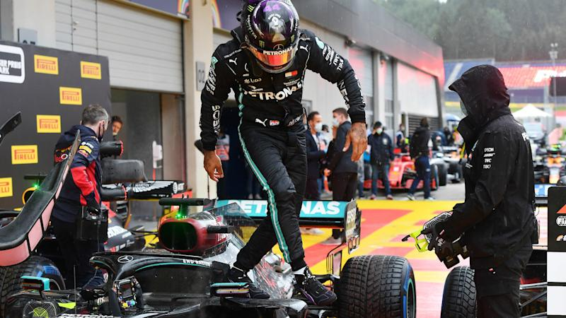 I had my heart in my mouth! - Hamilton revels in wet conditions