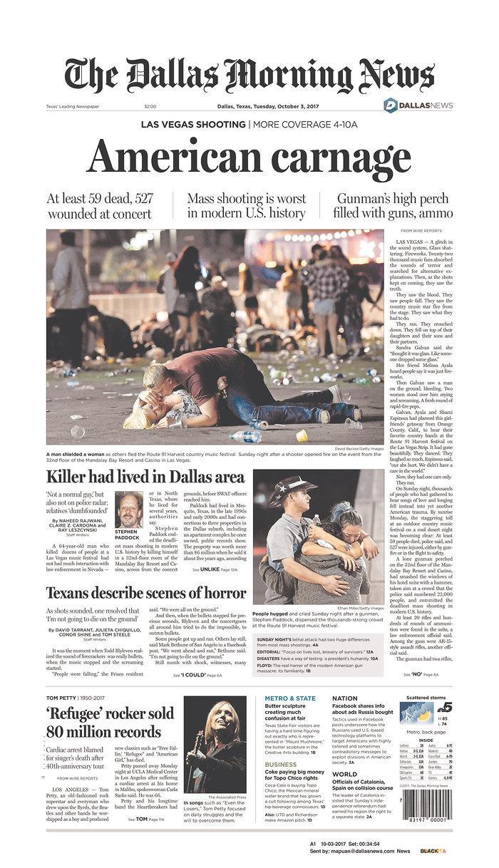 """<p>""""The Dallas Morning News,"""" published in Dallas, Texas.(newseum.org) </p>"""