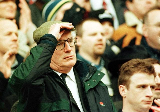 Jack Rowell was England head coach between 1995 and 1997 when rugby union changed from amateur to a professional sport