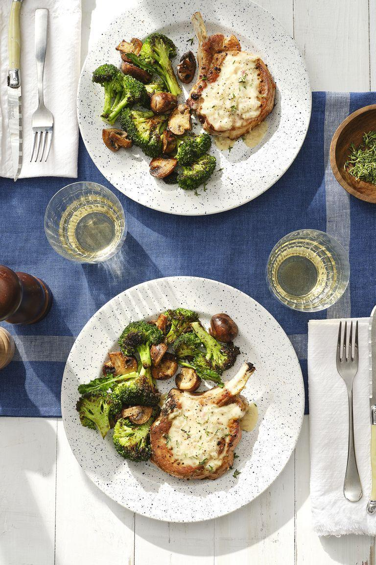 "<p>If you're hosting a small group for Easter, make these amazing smothered pork chops instead of a whole pork roast.</p><p><strong><a href=""https://www.countryliving.com/food-drinks/a30418573/smothered-pork-chops-recipe/"" rel=""nofollow noopener"" target=""_blank"" data-ylk=""slk:Get the recipe"" class=""link rapid-noclick-resp"">Get the recipe</a>.</strong></p><p><a class=""link rapid-noclick-resp"" href=""https://www.amazon.com/Victoria-Skillet-Seasoned-Flaxseed-Certified/dp/B01726HD72/?tag=syn-yahoo-20&ascsubtag=%5Bartid%7C10050.g.738%5Bsrc%7Cyahoo-us"" rel=""nofollow noopener"" target=""_blank"" data-ylk=""slk:SHOP SKILLETS"">SHOP SKILLETS</a></p>"