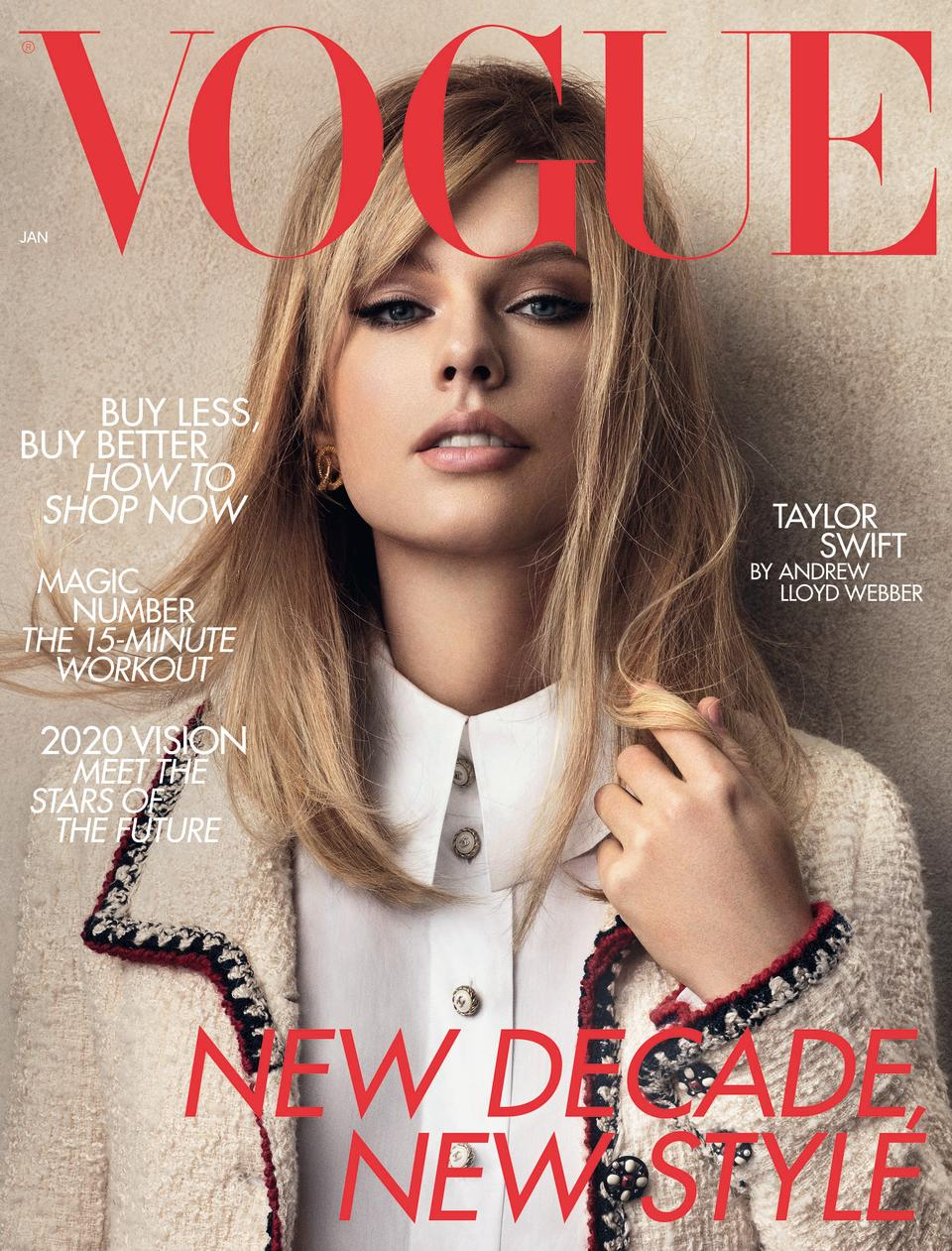 Taylor Swift on the cover of British Vogue (Craig McDean/PA)