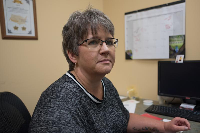 Lois Vance helps runs a program for people addicted to opioids in a Charleston, West Virginia, clinic.  (Roger May for HuffPost)