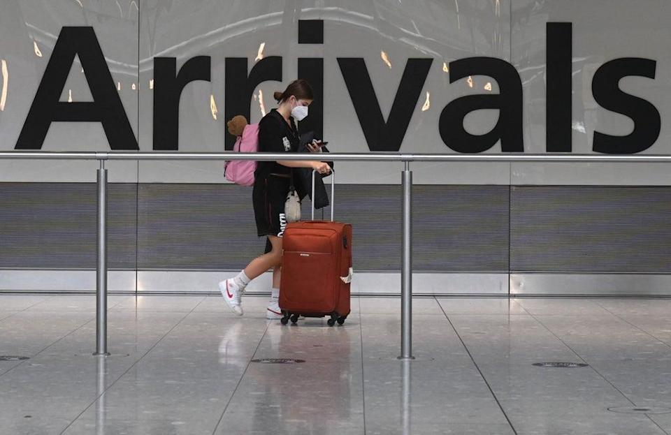 UK residents have faced travel restrictions to the US for more than a year (file photo) (AFP via Getty Images)