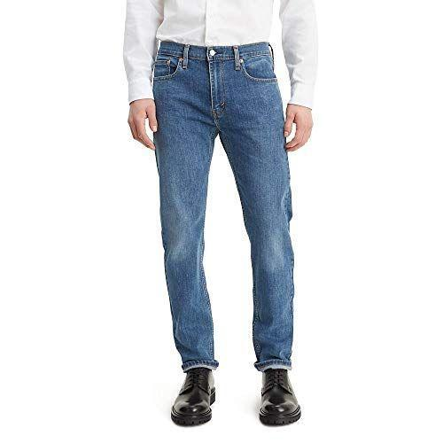"""<p><strong>Levi's</strong></p><p>amazon.com</p><p><strong>$55.46</strong></p><p><a href=""""https://www.amazon.com/dp/B07L3DDFXM?tag=syn-yahoo-20&ascsubtag=%5Bartid%7C10054.g.34073873%5Bsrc%7Cyahoo-us"""" rel=""""nofollow noopener"""" target=""""_blank"""" data-ylk=""""slk:Shop Now"""" class=""""link rapid-noclick-resp"""">Shop Now</a></p><p>The 502 Taper Jeans come in over 30 different washes, many of which are currently on sale for less than $50, but this medium wash remains our top pick. A spicier reviewer on Amazon described the 502 Taper Jeans as having a """"little bit of room in the thighs, and smaller around the ankles,"""" which """"gives a 'fitted' look without making me look like a skinny hipster wearing his gf's jeans."""" </p>"""