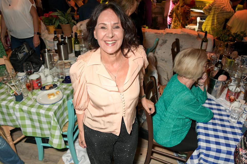 LONDON, ENGLAND - SEPTEMBER 19: Arlene Phillips attends the opening night of MAMMA MIA! The Party at Building 6 at The O2 on September 19, 2019 in London, England. (Photo by David M. Benett/Dave Benett/Getty Images for Mamma Mia)