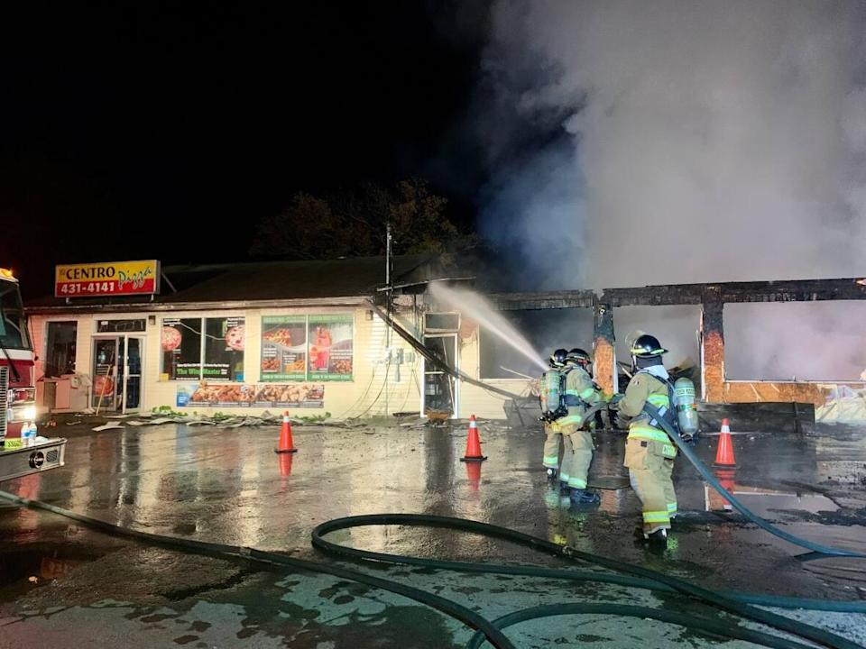 Firefighters were called to the 2600 Block of Lawrencetown Road at 3 a.m.  (Paul Palmeter/CBC - image credit)