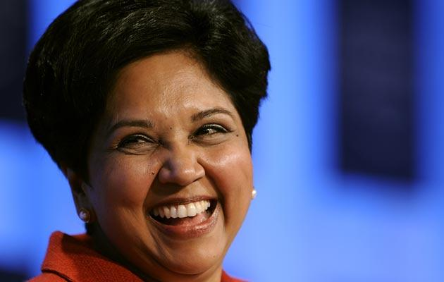 PepsiCo's Indian-American chairperson and CEO Indra Nooyi is ranked 12th.