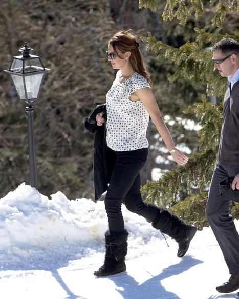 Kate Middleton Flaunts Pregnant Baby Bump Walking Through Snow in Swiss Alps