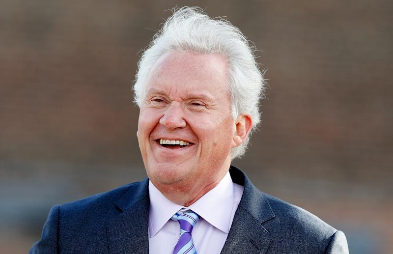 General Electric CEO Jeff Immelt attends a ground-breaking ceremony for GE's new headquarters, Monday, May 8, 2017, in Boston. (AP Photo/Michael Dwyer)