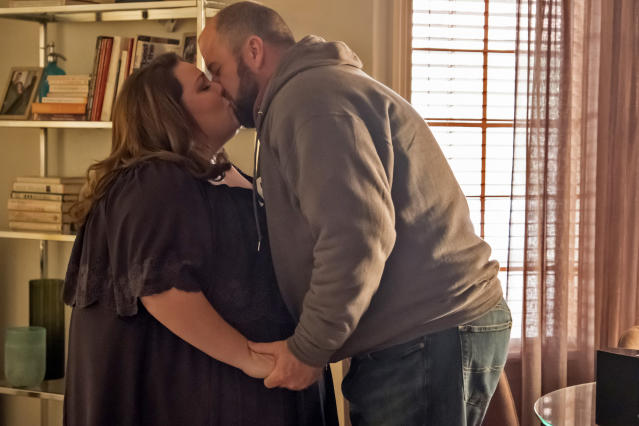<p>Chrissy Metz as Kate and Chris Sullivan as Toby in NBC's <i>This Is Us</i>.<br>(Photo by: Ron Batzdorff/NBC) </p>