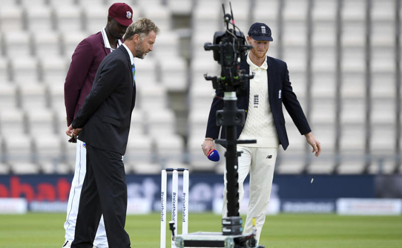 After almost four months break, international cricket finally returned with the start of Test series between England and West Indies at Southampton on 8 July. However, rain ruined the first day of the match. At the toss, England's stand-in captain Ben Stokes decided to bat first. In a shocking decision, he left out experienced Stuart Broad to give a place to Mark Wood in the XI. AP