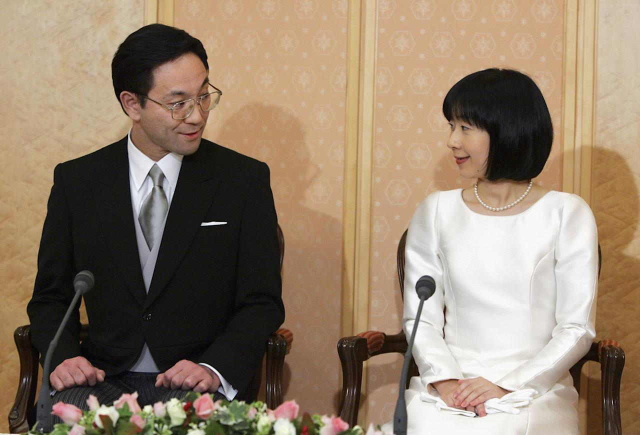 "<p>In November 2005, Princess Sayako - the only daughter of Emperor Akihito and Empress Michiko - decided to give up her title in order to marry urban planner Yoshiki Kuroda. Though Sayako lost both her position in the imperial family and her generous allowance, <a href=""http://www.theguardian.com/world/2005/nov/16/japan.topstories3"" target=""_blank"" class=""ga-track"" data-ga-category=""Related"" data-ga-label=""http://www.theguardian.com/world/2005/nov/16/japan.topstories3"" data-ga-action=""In-Line Links"">she was happy to forfeit her title</a>. ""I want to learn various new things, and I look forward to a new life,"" she said during a news conference. </p>"