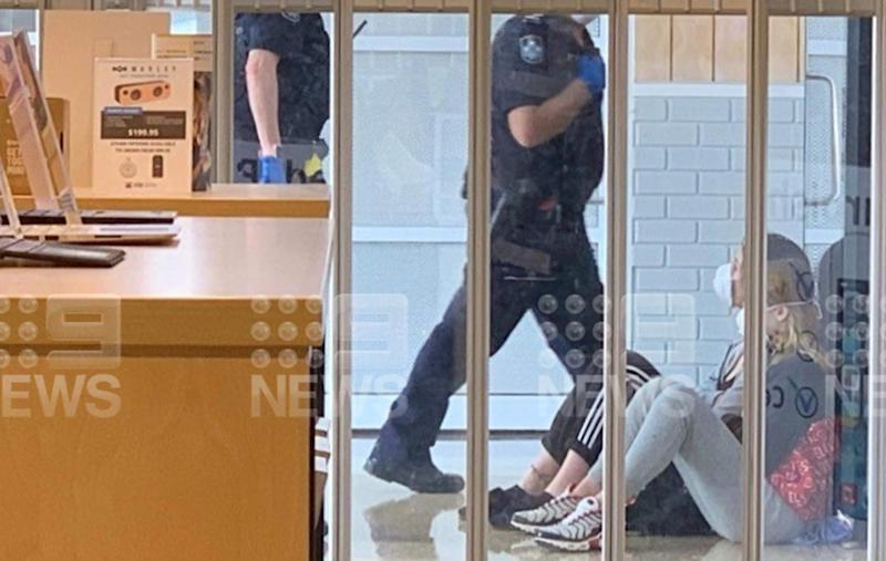 The two young women have been taken into custody in Noosa. Source: Nine News