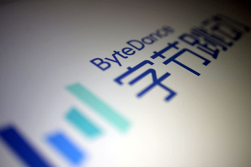 FILE PHOTO: ByteDance logo is seen in this illustration