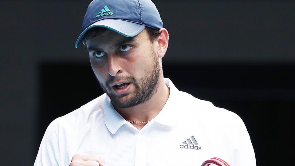 Aslan Karatsev of Russia has advanced to the Australian Open semi finals after defeating Grigor Dimitrov. (Photo by Daniel Pockett/Getty Images)