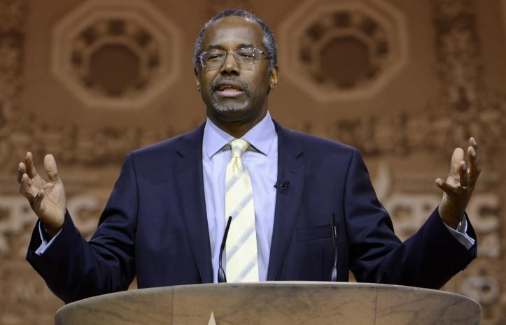 Retired neurosurgeon Ben Carson speaks at the Conservative Political Action Conference. (REUTERS/Mike Theiler)