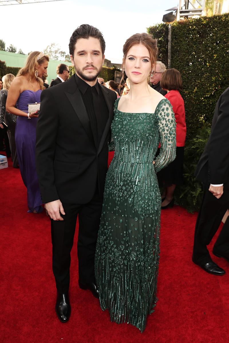 Kit Harington and Rose Leslie at the Golden Globes 2020