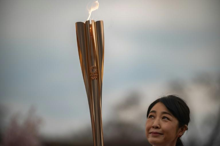 The Olympic torch is being carried on a nationwide relay across Japan