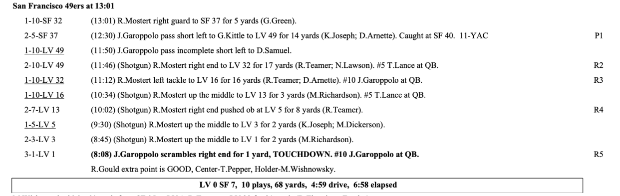 Check out how Kyle Shanahan used the 49ers' quarterbacks on the opening drive of the 49ers' final preseason game. (NFL GSIS)