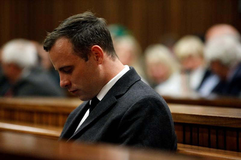 Oscar Pistorius awaits summary judgment in his trial on July 6, 2016. (Marco Longari/Anadolu Agency via Getty Images)