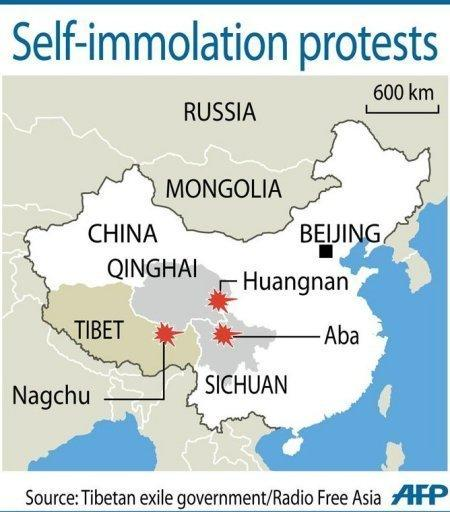 Self-immolations to protest Chinese rule in Tibet have occurred regularly since March 2011