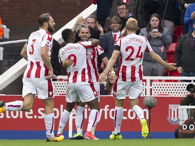 Debut goal for Rodriguez proved enough for Stoke to beat Arsenal: Getty