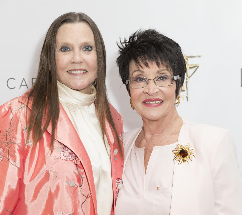 NYU SKIRBALL CENTER, NEW YORK, UNITED STATES - 2017/10/01: Ann Reinking & Chita Rivera attends Bright Lights Shinning Stars Gala 2017 honors Ann Reinking at NYU Skirball Center. (Photo by Lev Radin/Pacific Press/LightRocket via Getty Images)