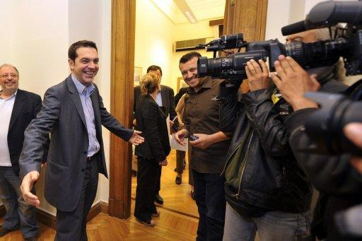 Alexis Tsipiras's Syriza party has 21% support in opinion polls