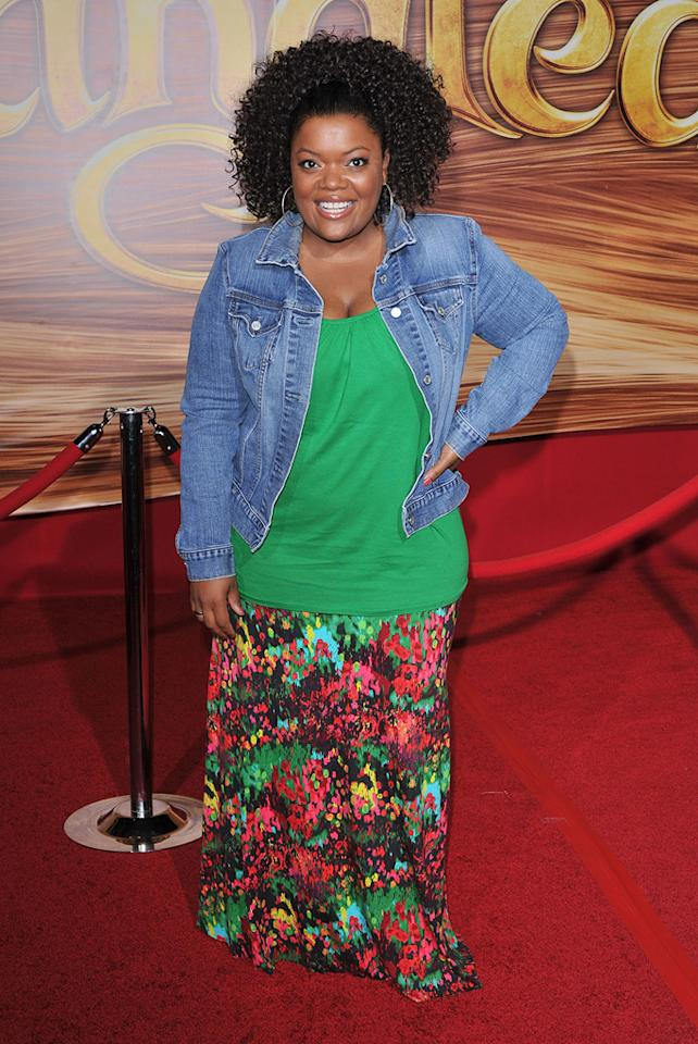"""<a href=""""http://movies.yahoo.com/movie/contributor/1809051534"""">Yvette Nicole Brown</a> attends the Los Angeles premiere of <a href=""""http://movies.yahoo.com/movie/1810121160/info"""">Tangled</a> on November 14, 2010."""