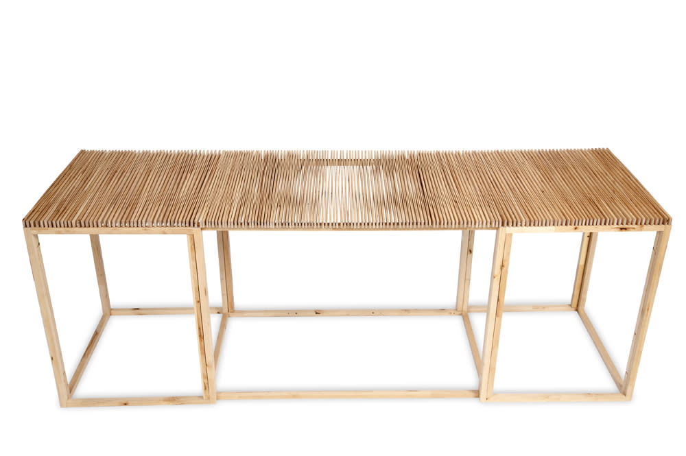 FAN Table and other designs by Mauricio Affonso table stretched