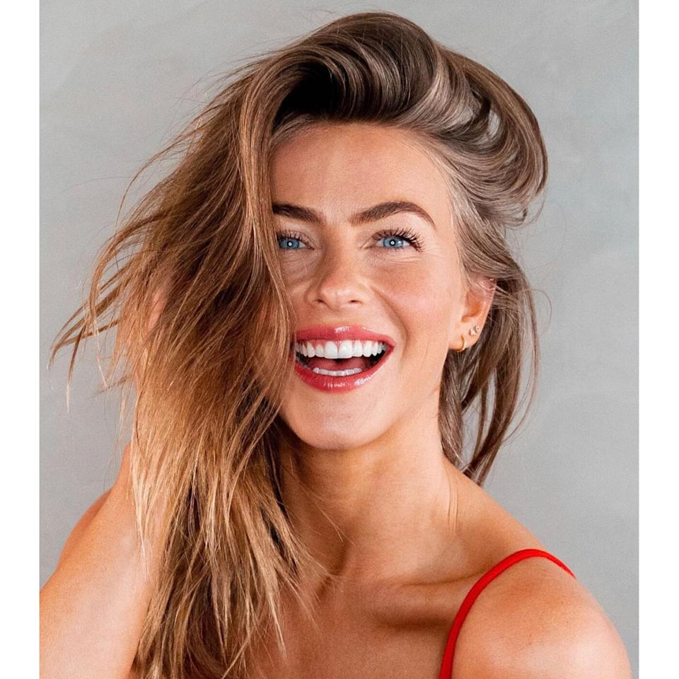 """<p>Instead of an ombré in which the gradient begins higher up in the hair, Julianne Hough is sporting one of Ferrara's favorite low-maintenance looks: a few golden highlights just at the ends. """"It's easier to grow out and gives you plenty of time in between hair salon appointments,"""" she says, not to mention it looks stunning with the medium-brown shade she transitioned to during the pandemic. </p> <p>To keep the golden pieces looking warm but not brassy, try <a href=""""https://shop-links.co/1733981913303365401"""" rel=""""nofollow noopener"""" target=""""_blank"""" data-ylk=""""slk:BlondMe Tone Enhancing Bonding Shampoo"""" class=""""link rapid-noclick-resp"""">BlondMe Tone Enhancing Bonding Shampoo</a> for Warm Blondes. </p>"""
