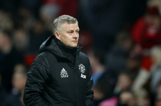 Manchester United manager Ole Gunnar Solskjaer thinks he will be given time to turn the side's fortunes around (Martin Rickett/PA)