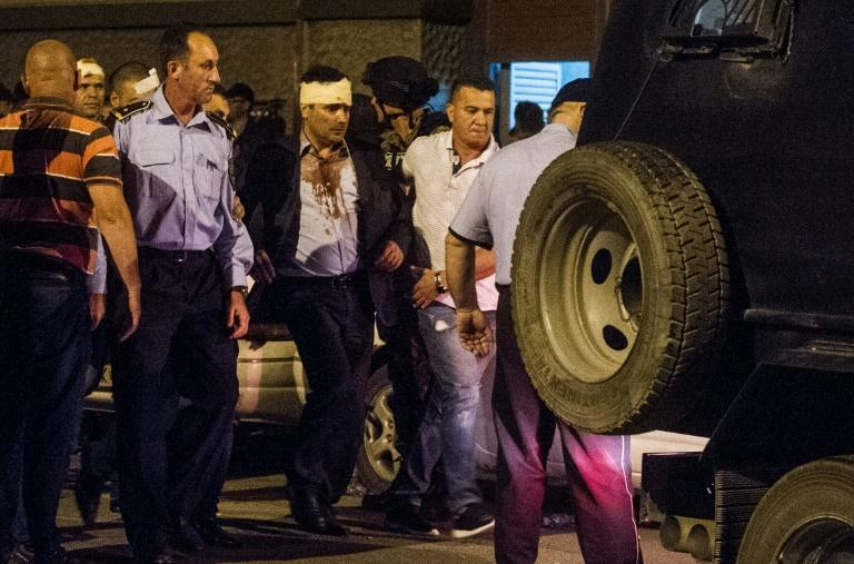 Social Democrats leader Zoran Zaev, who has since become prime minister, with his head bandaged after the rioting on April 27, 2017