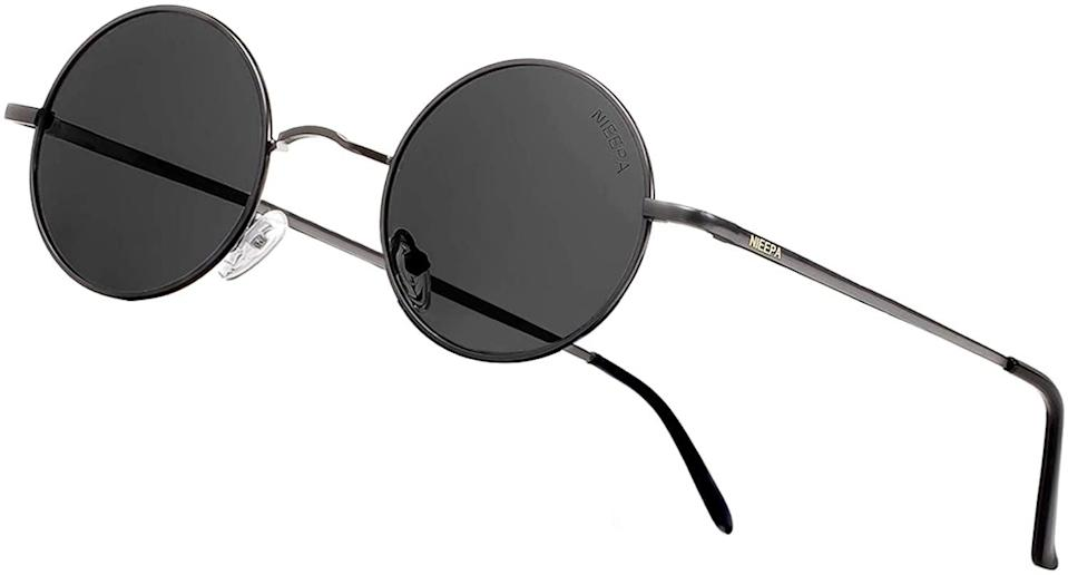 <p>Channel your inner John Lennon and rock these retro <span>NEEPA Vintage Round Polarized Sunglasses </span> ($11).</p>