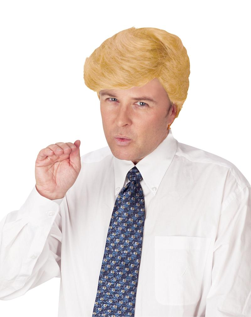 "It's sad enough that people believe anything Trump says -- especially when he insists his hair is real. You won't have that option when you wear this <a href=""http://www.spirithalloween.com/product/comb-over-candidate-wig/119131.uts?relationType=recentlyViewed&thumbnailIndex=0&Search=Find+It"" target=""_blank"">Trump Comb Over Wig, </a>but you have something better: When the party's over, you can get rid of the wig. When the Republican party collapses, they still won't be able to get rid of Trump. ($16.99, SpiritHalloween.com)"