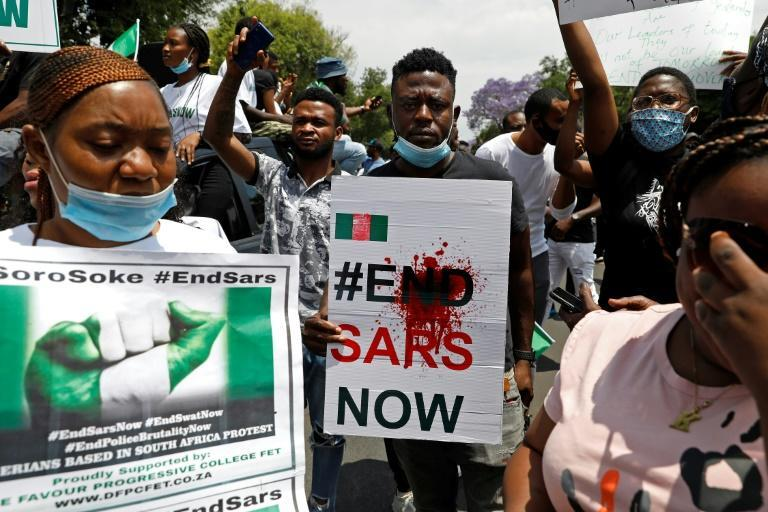 In South Africa, the continent's other economic powerhouse, hundreds of people took to the streets on Wednesday to voice their outrage at the shooting